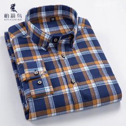 9aff63ea2a8 Men s Long Sleeve Plaid Checked Flannel Shirt with Pocket Slim-fit  Comfortable Soft 100% Cotton Smart Casual Button-down Shirts