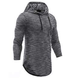 Discount long swag clothes - Men 2018 Autumn Jacquard Hoodies Long Sleeve Men Clothes Hooded Swag Hem Funny Hooded Men Curve Hem Hip Hop Hipster Hood