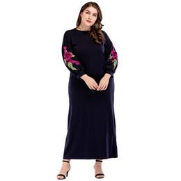 $enCountryForm.capitalKeyWord UK - Muslim Dress Dubai Kaftan Womens Long Dresses Flowy Gown Maxi Abaya Dress Islamic Arab Robes for Casual Loose