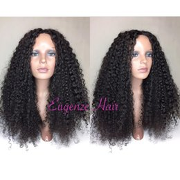 $enCountryForm.capitalKeyWord Australia - Pretty 100% unprocessed virgin remy human hair long natural color afro curly full lace cap wig for women