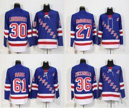 Wholesale 2018 New Brand New York Rangers 30 Henrik Lundqvist 36 Mats  Zuccarello 27 Ryan McDonagh 61 Rick Nash Blue Cheap Hockey Jerseys 59ac81d05