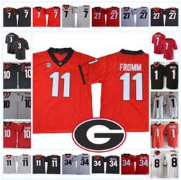 nick chubb black football jerseys 2019 - Georgia Bulldogs 11 Jake Fromm  College Football Jerseys 3 d1c21f03c