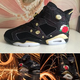 newest 66887 2c9b7 (With Box)2018 Cheap High Quality Shoes 6 Chinese New Year Basketball Shoes  Men 6s CNY Peony Fireworks Embroidery Sneakers