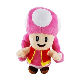 video game plush mario 2020 - Super Mario plush toys 2018 new Mario mushroom Girl Stuffed Animals 18cm 7 inches cartoon Dolls C4142 cheap video game p
