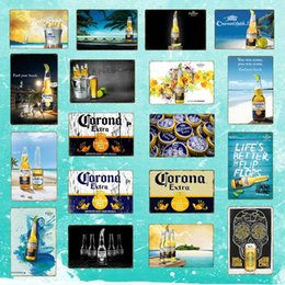 Corona Extra Beer Poster Metallo Targhe in metallo Retro Wall Stickers per Bar Pub Cafe Decorazione Art Plaque Vintage Home Decor YD050 in Offerta