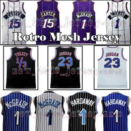 7a8c539a2488 Men s 15 Vince Carter 1 Tracy McGrady 1 Penny Hardaway 32 O Neal Basketball  Jersey 23 MJ Retro Mesh Stitched Jerseys Top Quality