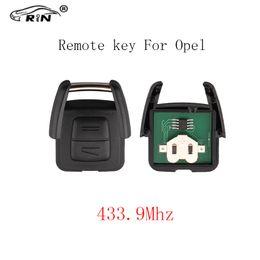 $enCountryForm.capitalKeyWord NZ - RIN 2Buttons 433Mhz Car Remote Key For OPEL VAUXHALL Vectra Zafira Omega Astra Auto Control Alarm NO Blade