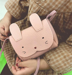 Knitting For Girls Bag Canada - 2019 New PU Leather Kids Rabbit Mini Messenger Bag Baby Girls Handbag Coin Purse Children Crossbody Bag for Girls Ladies Shoulder Bags