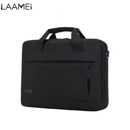 pocket notebooks 2019 - Laamei Laptop Handbag For Men Women Briefcase Travel Briefcase Bussiness Notebook Bag Macbook Pro Dell PC Large Capacity