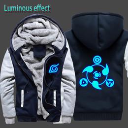 Cool Sweatshirt Jackets Australia - Luminous Naruto Hoodie Jacket Cool Hoodies Men Brand Male Long Sleeve Hoodie Sweatshirt Tracksuit Cotton Fleece CM357