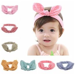 $enCountryForm.capitalKeyWord Australia - Children's Elasticity Cotton Hair Band 10 Colors Fabric Solid Bow Baby Headband Girl Headband Hair Accessories