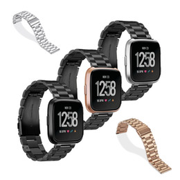 Watch spring bracelets online shopping - Stainless Steel Bracelet Metal Strap With Spring Pins For Fitbit Versa Band strap Screwless Fitbit Versa Wristbands Replace Accessories