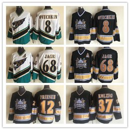 60b3a34ef16 1990 Vintage Washington Capitals Hockey 8 Alex Ovechkin Jersey 68 Jaromir  Jagr 37 Kolzig 12 Jeff Friesen CCM Retro Clásico cosido