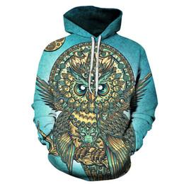 $enCountryForm.capitalKeyWord UK - Newest FashionMen Women Owl 3D Funny Printed Crewneck Sweatshirt Fashion Casual Hoodies H400