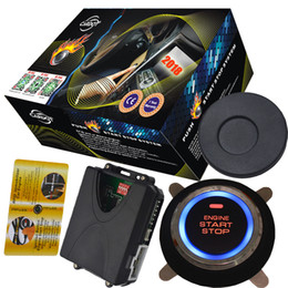 Rfid Entry Card Australia - rfid car alarm system with transponder card arm or disarm engine start stop button has remote start stop and push
