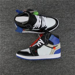 b891b675c57fc4 Wholesale Discount 1S White Blue Powder Blue Cone Basketball Shoes 1 1s  Trainers Sports Sneakers Men 1 UNC Chicago Basketball Outdoor Shoes