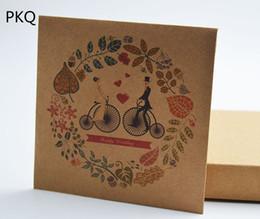 30PCS Style Chinois Enveloppes Vintage Floral Hoop Décoration Dvd CD Emballage Sac De Papier Mariée Et Le Marié Kraft Papier Cd Sac