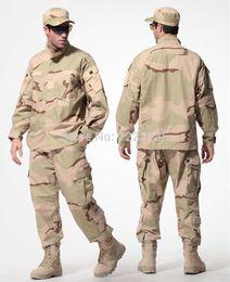 Discount tactical camo uniforms - US Army Desert Tactical Camouflage Combat Uniform Camo BDU Men Clothing Set Outdoor Hunting suits S-XXXL