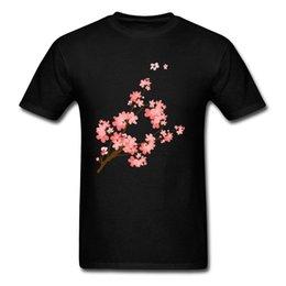 Cotton Cherry UK - Cherry Blossoms 2018 Romantic Spring Floral Men T-shirt Short Sleeve Plus Size Cotton Tee Shirt Valentine's Day Customize