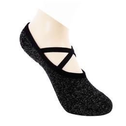 Shiny SlipperS online shopping - 1 Pair Women Silver Shiny Yoga Socks Anti Slip Silicone Pilates Ballet Dance Sports Socks Elastic Slippers Comfortable Foowear