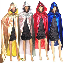 party decoration blue Canada - Children Size Halloween Party Cloak Decorations Birthday Party Grim Reaper Vampire Cosplay Cloak Props Gold Silver Red Black Blue