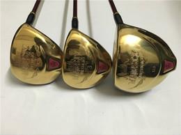 3 PCS Femmes Maruman Majesty Prestigio9 Ensemble De Bois Maruman Golf Woods Femmes Clubs de Golf Pilote + Bois De Parcours Arbre Graphite Avec Couvre-Tête en Solde