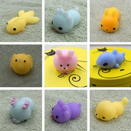 mini toys animals Canada - Kawaii Animals Mochi Squishy Stress Toy Relief Animal Squishies Mini Hand Squeeze Squishes Decompression Toy 2000pcs lot T2I161