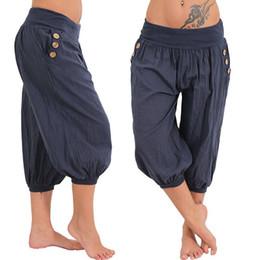 69160708c40 Plus size fat women clothing online shopping - Aladdin S Casual Pants  Capris Plus Size Women
