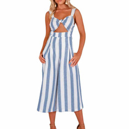 efbff5137899 Cut out romper online shopping - Womens Stripe Jumpsuit Fashion Sleeveless  Cut Out Casual Beach Romper