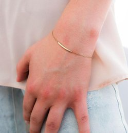 curved bar bracelet NZ - TTMM Jewelry Simple Exquisite curved Bar bracelets & bangles For Women B2