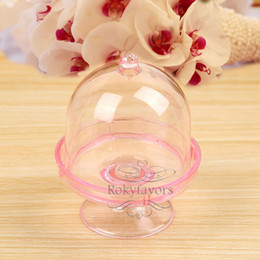 $enCountryForm.capitalKeyWord NZ - FREE SHIPPING 12PCS Acrylic Clear Mini Cake Stand Baby Shower Party Gifts Birthday Favors Holders Children Party Decoration Sweet Package
