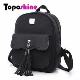 Chinese  2017 Tassel Women Backpacks Fashion PU Leather Lady Backpacks High Quality Fashion Girls Backpack Cute School Bag 1588 manufacturers