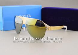 Chinese  Famous sunglasses brand designer Franz celebrity sepp mirror sunglasses men pilot aviator beach sun glasses Mirror Rose Gold Sunglasses manufacturers