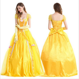 Halloween Costumes Adult Belle Beauty and beast Cosplay Party Halloween short sleeves Costume Dresses  sc 1 st  DHgate.com & Beauty Beast Costumes Adults Online Shopping | Beauty Beast Costumes ...