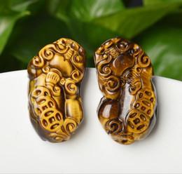 $enCountryForm.capitalKeyWord NZ - Natural Jade Tiger Pendant pendant pendant, male and female tiger eye stone, brave soldier jade pendant couple crafts free delivery