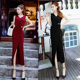 $enCountryForm.capitalKeyWord NZ - Hot New Style Sleeveless Summer Women Slim Hip Skirt Long Skirt for Party Formal Wear Evening Dress A0028