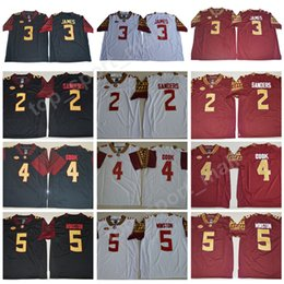 NCAA Florida State Seminoles 2 Deion Sanders Jersey Men College Football 3  Derwin James 4 Dalvin Cook 5 Jameis Winston 12 Deondre Francois 8e37f9f68