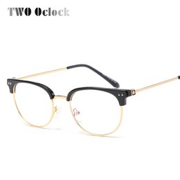 a1d62b2bc4 solid gold eyeglass frames 2019 - TWO Oclock 2017 Vintage Computer Glasses  Women Semi-rimless