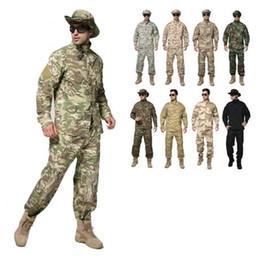 Discount hunting uniforms - ATACS AU Camouflage suit sets Army uniform combat uniform Only jacket pants Army