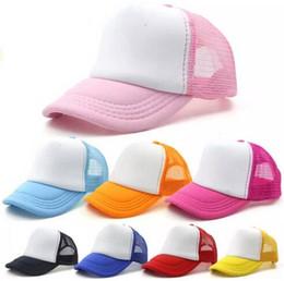 597fe3971aa Kids Trucker Cap Blank Snap Back Trucker Mesh Hats Children Plain Baseball Caps  Summer Snapbacks Caps Blank Trucker Hats Snapback Hats