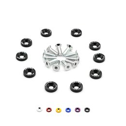 Fender Washer Jdm UK - Aluminum Fender Washers kit 1set=10pcs washers and bolt FS-JDM 04