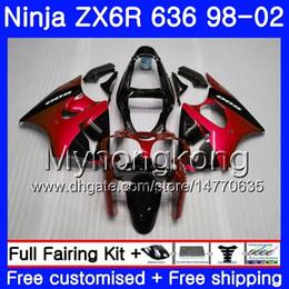 Zx6r frame online shopping - Red black frame Body For KAWASAKI NINJA ZX ZX R HM ZX600 CC ZX636 ZX R ZX6R Fairing