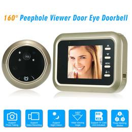 Discount digital video intercom - Door Eye Doorbell Digital HD IR Camera DoorPhone Night Vision Three Working Modes Optional Video Intercom