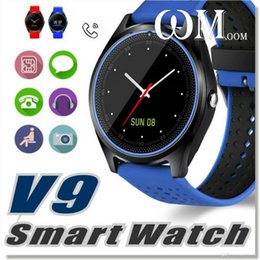 Smart Watch Android Sync Australia - TOP Quality V9 Bluetooth Smart Watch Smartwatch Built-in SIM Card Slot Call Sync Watch GPS Smart Watches For iPhone and Android Phones