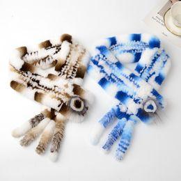 Ring Ties Canada - 2018 women winter fashion luxury real rabbit fur scarves hair collar scarf ladies ring foulard femme schal luxus marke fulare mujer echarpe