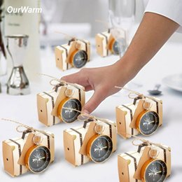 $enCountryForm.capitalKeyWord NZ - Ourwarm 50pcs Gift Bag and Compass for Wedding Decoration Baby Shower Birthday Celebration Hawaii Carnival Party Supplies