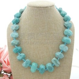 $enCountryForm.capitalKeyWord Australia - N051108 20'' Faceted Amazonite Nugget Crystal Necklace