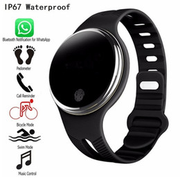 $enCountryForm.capitalKeyWord Canada - Hot Sale E07 Waterproof Sports Bracelet Smart Watches Pedometer Fitness Tracker Smartband Call Reminder for Android IOS Phones 10pcs lot