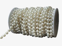 Chinese  1 yard * 10 mm Large Ivory Pearls Faux Crystal Beads by the Roll for Flowers Wedding Party Decoration AA7959 manufacturers