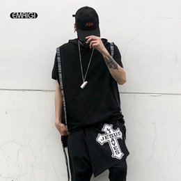 1f7e49484f Men Short Sleeve Hooded Tshirt Male Streetwear Fashion Casual Hip Hop Punk  Loose Tee Shirt Dancing Costumes